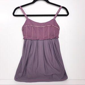 Lululemon | Priiti Lavender Purple Ruffle Tank Top